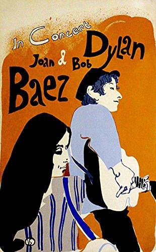 Bob Dylan & Joan Baez - 1968 - Concert Poster