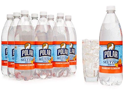 Polar Cranberry Clementine Seltzer 1 Liter Plastic Bottles - Pack of 12