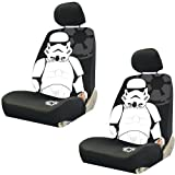 Storm Trooper with Galactic Empire Logo Star Wars Car Truck SUV Low Back Bucket Seat Covers - PAIR