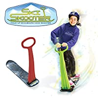 Geospace Ski Skooter: Fold-up Snowboard Kick-Scooter for Use on Snow & Grass, Assorted Colors by Geospace