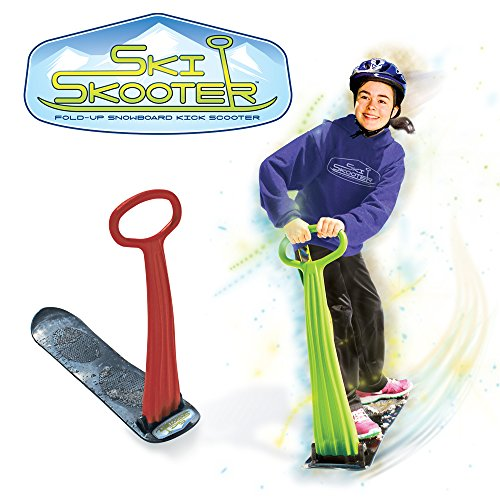Geospace Ski Skooter: Fold-up Snowboard Kick-Scooter for Use on Snow