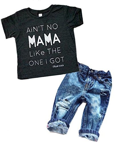 Newborn Baby Boy Clothes T-shirt Top Tee - Infant Girls Denim Pants Shopping Results