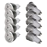 10Pcs GU10 5x1W 85-266V 6000K LED Light Bulb Lamp Pure White...