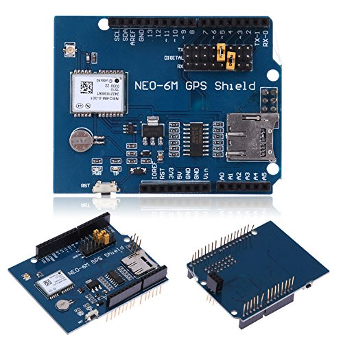 UEB Ublox NEO-6M GPS Module Shield Board with SD Slot for Duinopeak Arduino