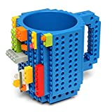 SKYZONAL Build-On Brick Mug Lego Coffee Cup Novelty Creative Mug, Blue Deal (Small Image)