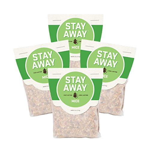 Stay Away Mice Repellent Pest Control Scent Pouches, All Natural - Repels Mice with No Mess and Environmentally Safe, 12 PACK - from the makers of FRESH CAB! Not for sale in IN, DC, NM, MS, CT, ME, (Away Repellent)