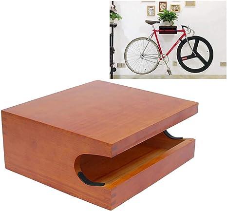 JXS-Outdoor Bicicletas repisa de Pared - Hecho De Hecho a Mano de Madera de Pino - Estante de la Bici Gancho de Almacenamiento de Titular de Almacenamiento Cubierta (Brown): Amazon.es: Hogar