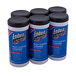 Endust LCD and Plasma Monitor Cleaner Pop-Up Wipes 70 ct - 6 Pack (11506P6)