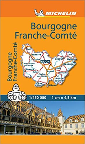 Carte Routiere Bourgogne Gratuite.Mini Carte Bourgogne Franche Comte Michelin Amazon Fr