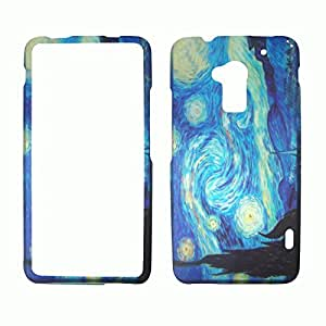 2D Blue Design HTC one Max T6 Sprint Verizon Case Cover Phone Snap on Cover Case Rubberized Frosted Matte Surface Hard Shells