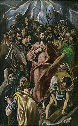 Oil Painting 'Theotocopuli Jorge Manuel (Copy El Greco) El Expolio Ca. 1606' 8 x 13 inch / 20 x 33 cm , on High Definition HD canvas prints is for Gifts And Dining Room, Hallway And Home Offic decor