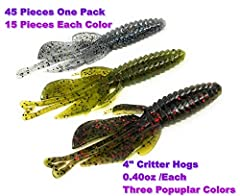 45 Pieces One Pack; Including 15 Pieces /Each Color. Three Colors: watermelon red&black FLK blue gill; California 420. Weight: 0.40oz/Each
