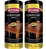 Weiman Wood Cleaner and Polishing Wipes - 2 Pack - For Furniture To