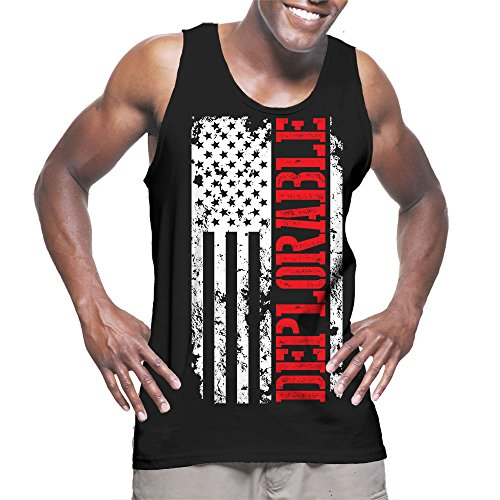 Mens Deplorable Oversized White American