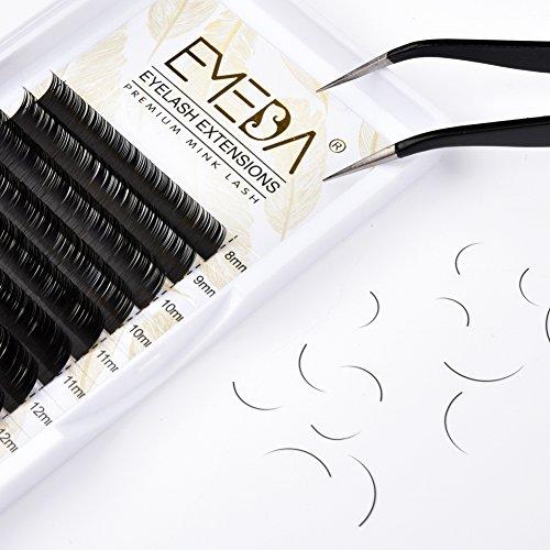 Eyelash Extensions D Curl .20mm Mixed Tray 8-15mm 3D Individual Eye Lashes 8mm 9mm 10mm 11mm 12mm 13mm 14mm 15mm Eyelashes Extension Supplies by EMEDA (0.20mm D Curl 8-15m Mix)