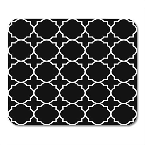 (Emvency Mouse Pads Christian Black Geometric Pattern Byzantine Stencil Church Abstract Mousepad 9.5