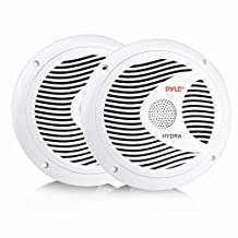 Pyle PLMR60W 150W 6.5-Inch 2-Way Marine Speakers, White