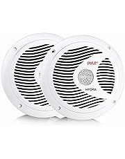 Pyle PLMR60W 150W 6.5-Inch 2-Way Marine Speakers, White