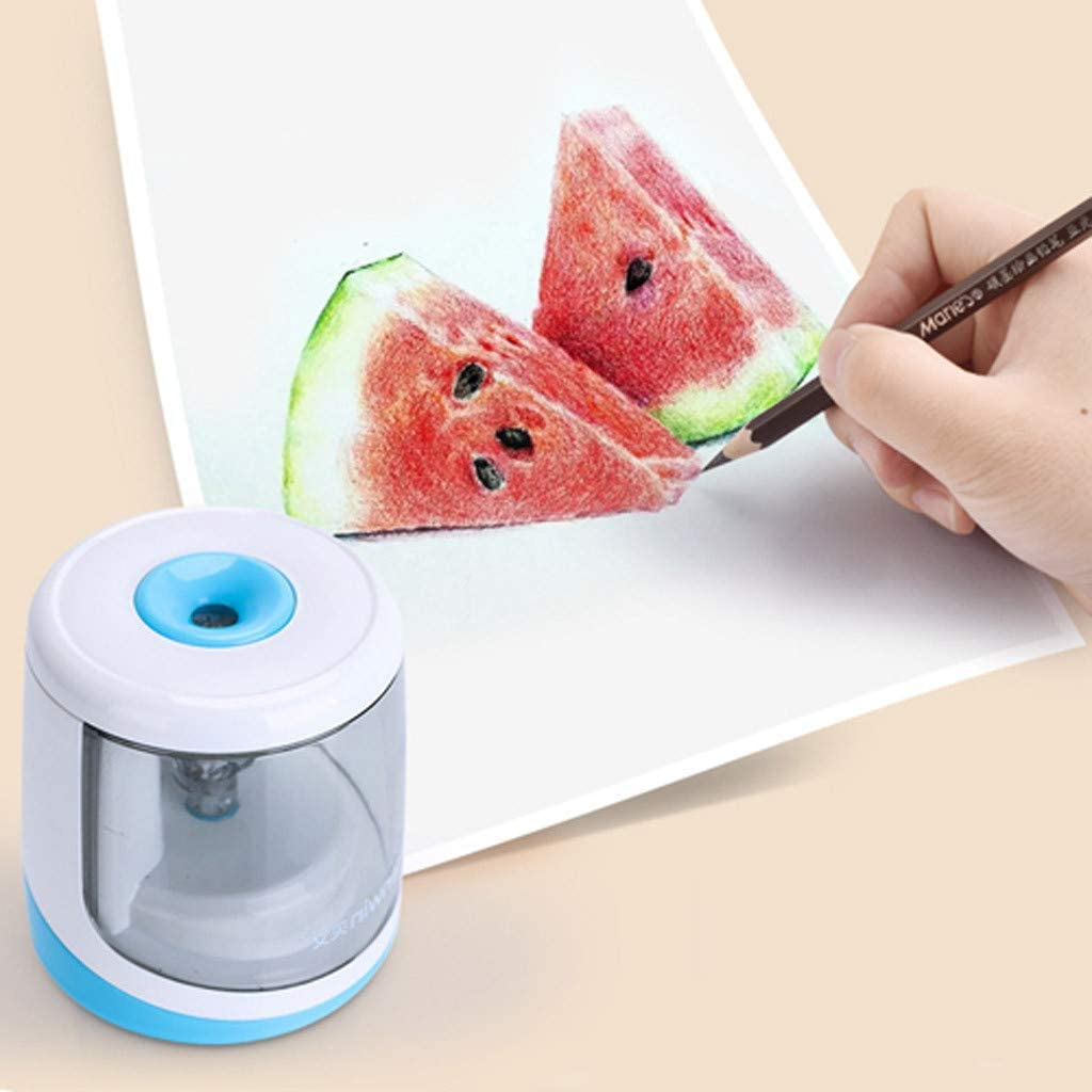 Fast Sharpen Battery Operated in School Classroom Office Home Transser Electric Pencil Sharpener Auto Stop for 6-8mm Dia Pencils