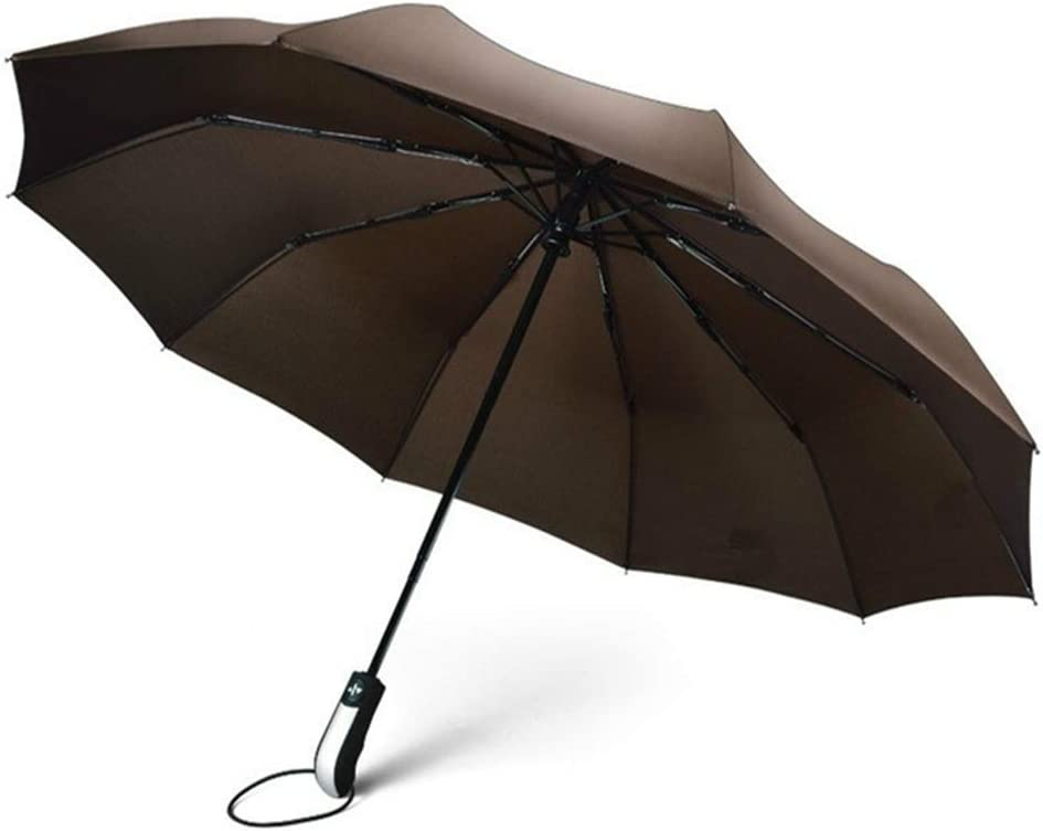 ZhiGe Foldable Umbrella,Wind Resistant Three Folding Automatic Umbrella Rain Women Auto Luxury Big Windproof Umbrellas Men Frame Windproof 10K Parasol
