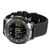Bluetooth Smart Watch, H-Son Wrist Watch Waterproof Pedometer Activity Sleep Tracker for Android iPhone iOS Smartphones(Black)