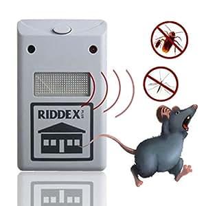 Control de plagas ultrasónico repelente al–Pest ultrasónico–Plus Repelente De Plagas Repelente Ayuda para roedores cucarachas hormigas arañas EU- electrónica repelente de plagas