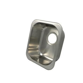 Opella 13201.046 Universal Mount Single Bowl Bar Sink, 10 3/4u0026quot; ...