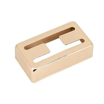 Cubierta de Pastillas Dobles de Humbucker, Caja de Pastillas de Metal H Hole Cubierta de Latón de Humbucker para Guitarras Eléctricas(Oro): Amazon.es: ...