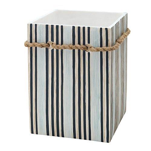 Zenna-Home-India-Ink-Seaside-Serenity-Waste-Basket-CoastalBeach-by-ZPC-Zenith-Products