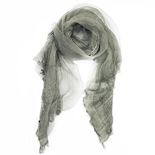 - Winter Trendy Scarf - OKEER Unisex Solid Color Silk Cotton Layered Wraps(Dark Green)
