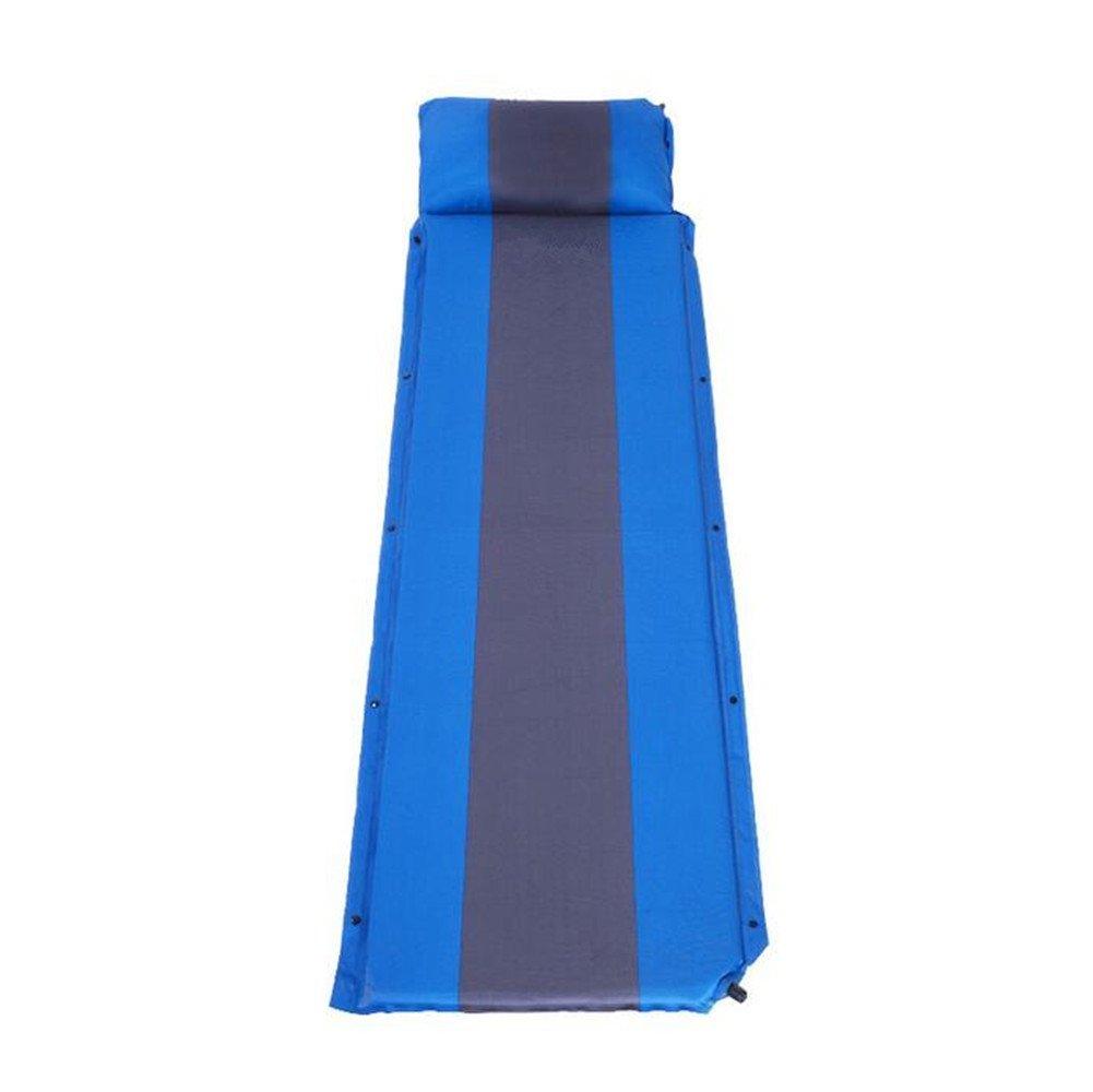 GOUQIN Estera Inflable Colchón De Aire Inflable Automático Exterior Elástico Y Un Colchón De Humedad Carpas, Azul (Individual) Esteras Portables Elegantes ...