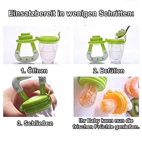 Azul, M Perfecto para Frutas y Hortalizas extractor de lodos bestbeans Baby Smoothie Maker Chupete chupete de frutas