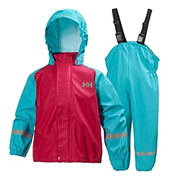 cf2123ee772 Helly Hansen Kid s K Voss Waterproof Rainset-Green 252