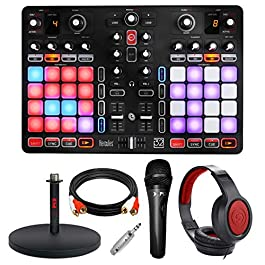 Hercules P32 DJ Controller with High-Performance Pads + Headphones + Basic Accessory Bundle