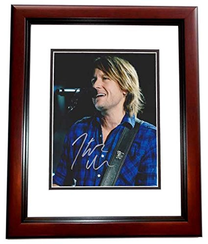 Keith Urban Autographed - Hand Signed Concert 8x10 Photo - American Idol Judge - Country Singer - MAHOGANY CUSTOM Frame - Guaranteed to pass PSA or JSA -