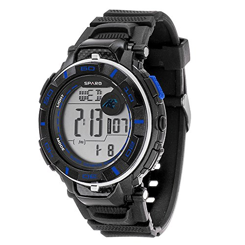 Rico NFL Carolina Panthers Boys Sparo Power Watch, Small, Blue (Watch Panthers Sports)