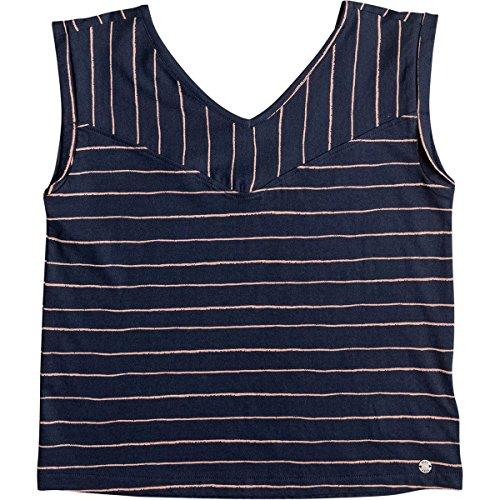 Roxy Girls Reflected Reality Top Shirts 2X-Large Dress Blue Pencil Stripe ()