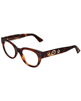 3d23b4c05cf33 Amazon.com  Gucci GG0209O Plastic Cat-Eye Eyeglasses 48 mm  Clothing