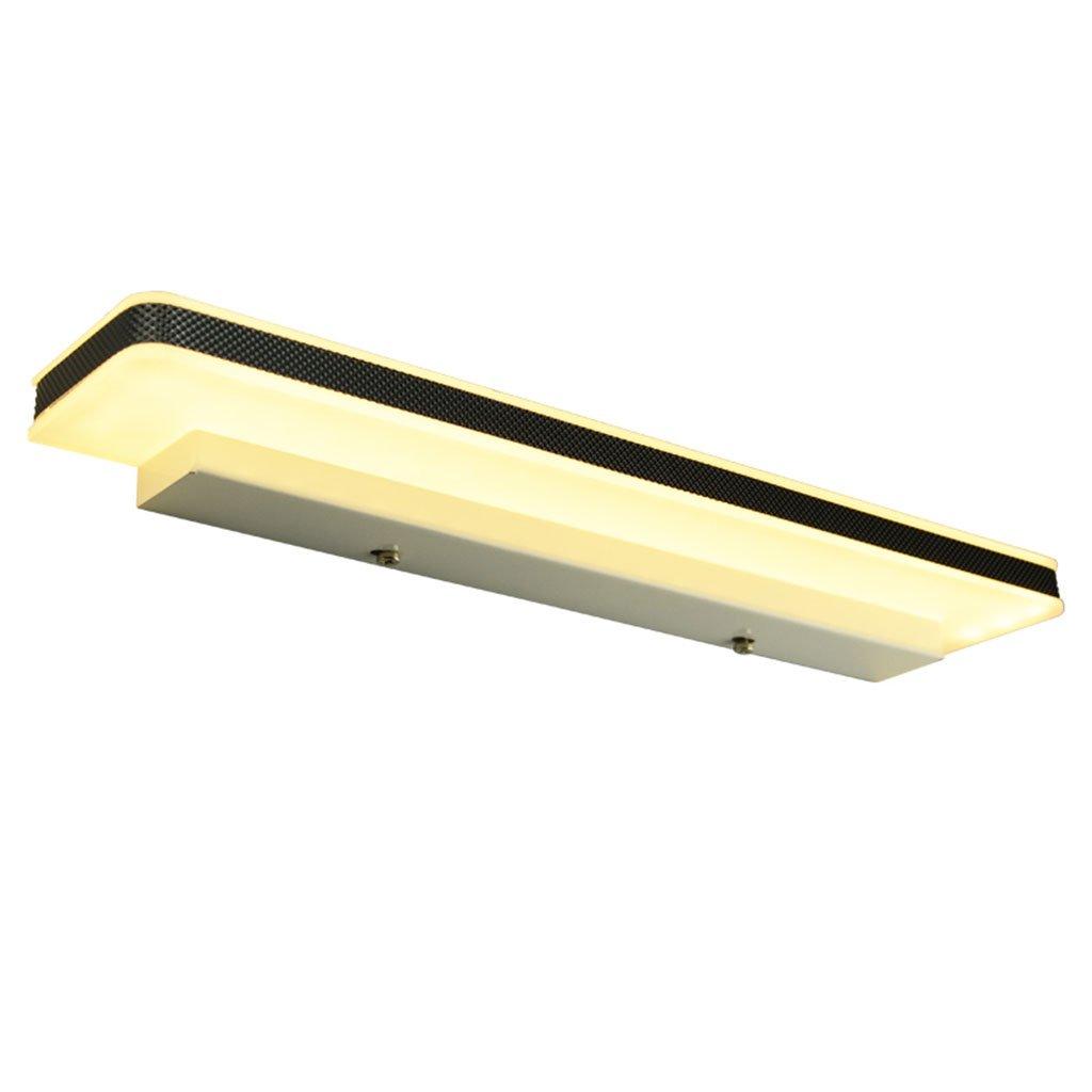 badezimmerlampe LED-Spiegel-Scheinwerfer-Badezimmer-Make-upspiegel-Wand-Lampen-wasserdichter Nebel-langer Spiegel-Scheinwerfer (Farbe   Warmes Licht-12W 50CM)