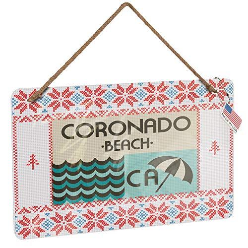 (NEONBLOND Metal Sign US Beaches Vacation Coronado Beach Vintage Christmas Decoration)