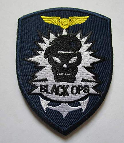 (Call of Duty Black Ops Military Patch Fabric Embroidered Badges Patch Tactical Stickers for Clothes with Hook & Loop)