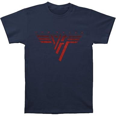 Van Halen Men's Classic Red Logo T-shirt X-Large Navy