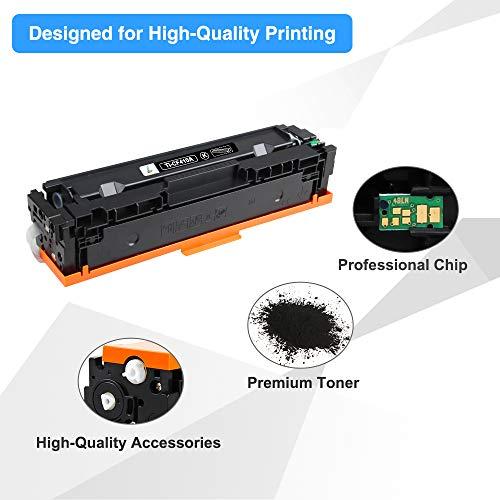True Image Compatible Toner Cartridge Replacement for HP 410A CF410A Laserjet Pro M477fdw M477fnw M452dn M452nw M477fdn M377dw M452dw M477 M452 Printer Ink (Black, 2-Pack)