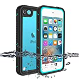 iPod 5 iPod 6 Waterproof Case, Re-Sport Shockproof Dirtproof Snowproof Full-Body Protective Case Cover Built-in Screen Protector Compatible iPod Touch 5th/6th - Blue