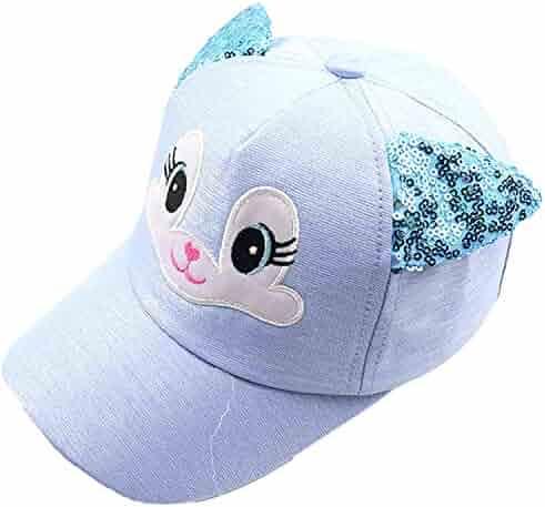 Aiw Wfdnn Kawaii Kitten Mesh Baseball Caps Girls Adjustable Trucker Hat Pink