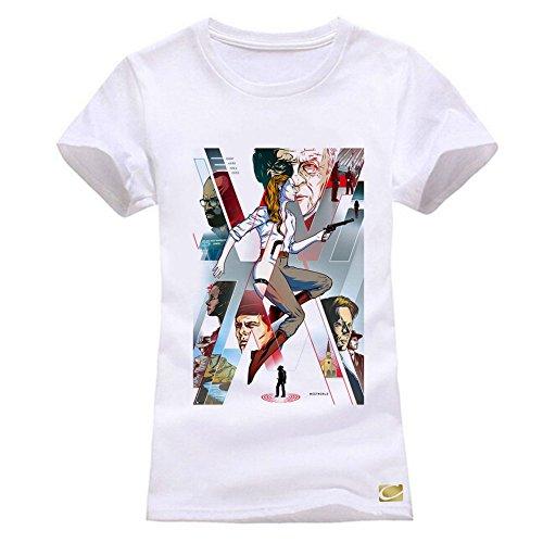 2ecc6b69 cornflower Westworld Maze Women Cotton T Shirts Short Sleeve O-Neck Tees  Size M