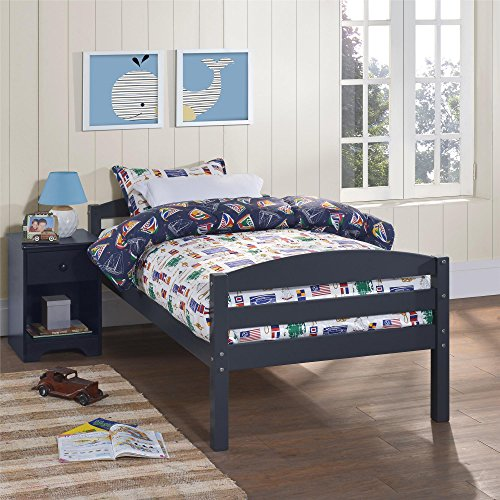 Dorel Living Brady Twin Over Full Bunk Bed Blue