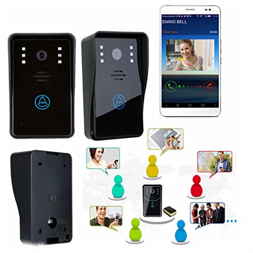 Smart Wireless WiFi Video Camera Door Phone Doorbell Intercom Monitor Security by Unbranded*