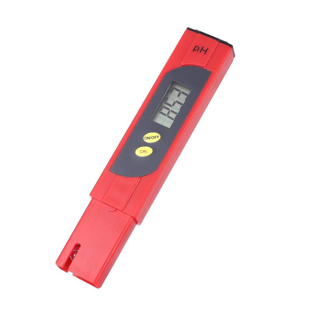 Protable LCD Num/érique PH M/ètre 0-14PH Stylo Testeur Pr/écision 0.01 pour Moniteur de La Qualit/é De leau De Piscine Daquarium