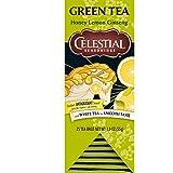 Celestial Seasonings Honey Lemon Ginseng Green Tea, 25 Count (Pack of 6)